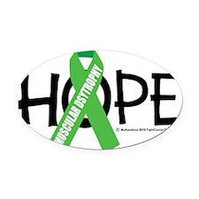 Muscular-Dystrophy-Hope Oval Car Magnet