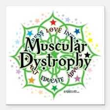"""Muscular-Dystrophy--Lotu Square Car Magnet 3"""" x 3"""""""