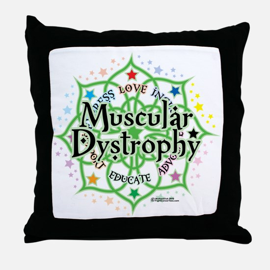 Muscular-Dystrophy--Lotus Throw Pillow