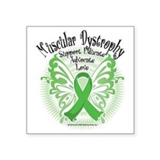 "Muscular-Dystrophy-Butterfl Square Sticker 3"" x 3"""