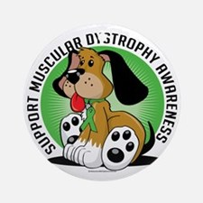 Muscular-Dystrophy-Dog Round Ornament
