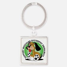 Muscular-Dystrophy-Dog Square Keychain