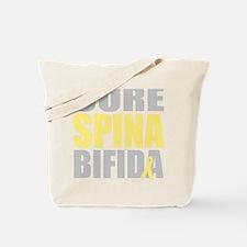 Cure-Spina-Bifida-blk Tote Bag
