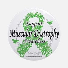 Muscular-Dystrophy-Ribbon-of-Butter Round Ornament