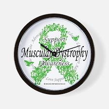 Muscular-Dystrophy-Ribbon-of-Butterflie Wall Clock