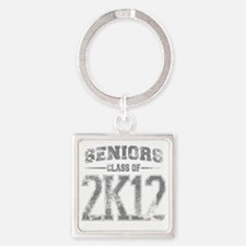2k12_grey Square Keychain