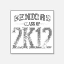 "2k12_grey Square Sticker 3"" x 3"""