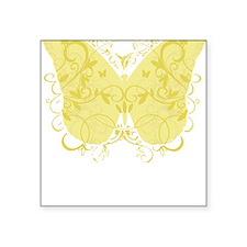 "Spina-Bifida-Butterfly-blk Square Sticker 3"" x 3"""
