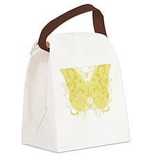 Spina-Bifida-Butterfly-blk Canvas Lunch Bag