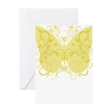 Spina-Bifida-Butterfly-blk Greeting Card