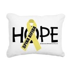 Spina-Bifida-Hope Rectangular Canvas Pillow