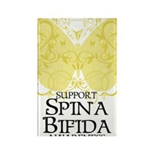 Spina-Bifida-Butterfly Rectangle Magnet