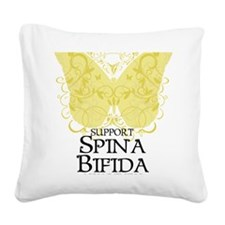 Spina-Bifida-Butterfly Square Canvas Pillow