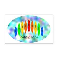 2-Tintedrainbowoval Rectangle Car Magnet