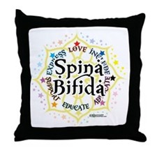 Spina-Bifida-Lotus Throw Pillow