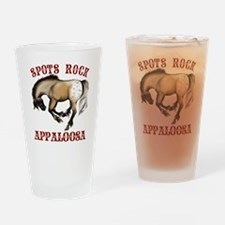 SpotsRockLettered2Trans Drinking Glass