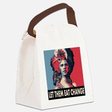 Let them eat change square Canvas Lunch Bag