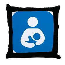 National Breastfeeding Symbol Throw Pillow