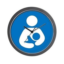National Breastfeeding Symbol Wall Clock