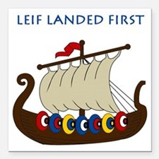 "Leif2.GIF Square Car Magnet 3"" x 3"""