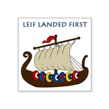 "Leif2.GIF Square Sticker 3"" x 3"""