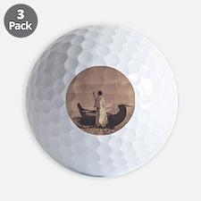 KutenaiWoman1910CurtisTile Golf Ball
