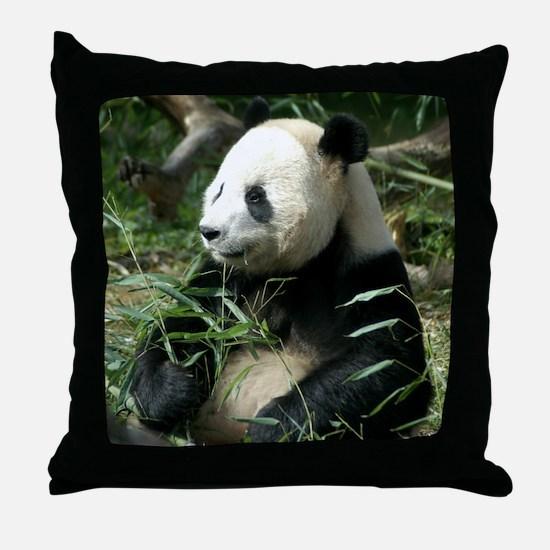 Panda Profile Throw Pillow