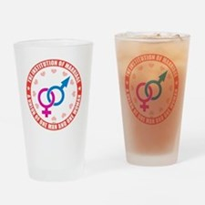 august_marriage_institution_colors Drinking Glass