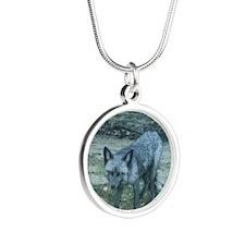 CalFox11.5x9 Silver Round Necklace
