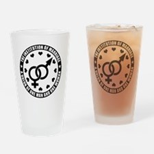 august_marriage_institution_black Drinking Glass
