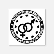"""august_marriage_institution Square Sticker 3"""" x 3"""""""
