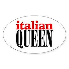 ITALIAN QUEEN Oval Decal