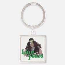 hair peace2 Square Keychain