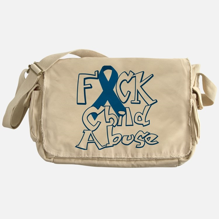 Fuck-Child-Abuse-blk Messenger Bag