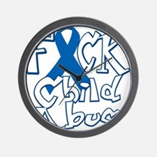 Fuck-Child-Abuse-blk Wall Clock
