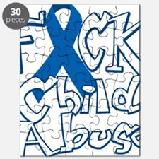 Fuck-Child-Abuse-blk Puzzle