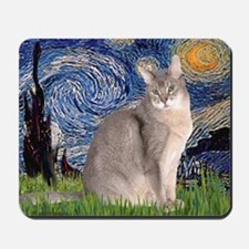 T-Starry Night - Abyssinian (blue 21) Mousepad