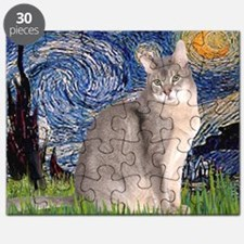 T-Starry Night - Abyssinian (blue 21) Puzzle