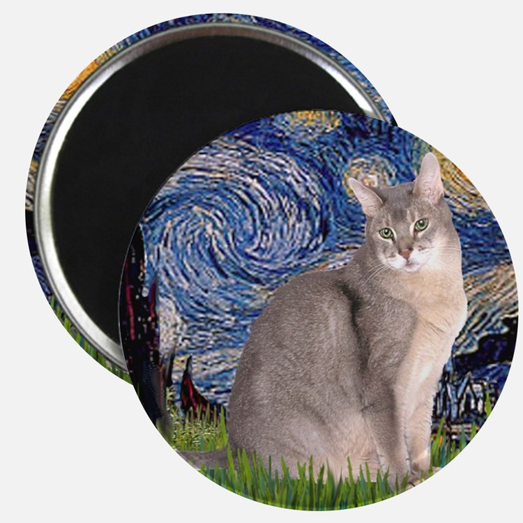 T-Starry Night - Abyssinian (blue 21) Magnet