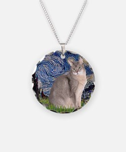T-Starry Night - Abyssinian  Necklace