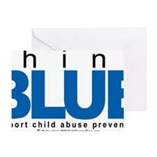 Child-Abuse-THINK-Blue Greeting Card
