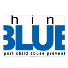 Child-Abuse-THINK-Blue Postcards (Package of 8)
