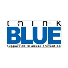 Child-Abuse-THINK-Blue Aluminum License Plate