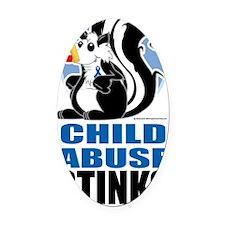 Child-Abuse-Stinks Oval Car Magnet