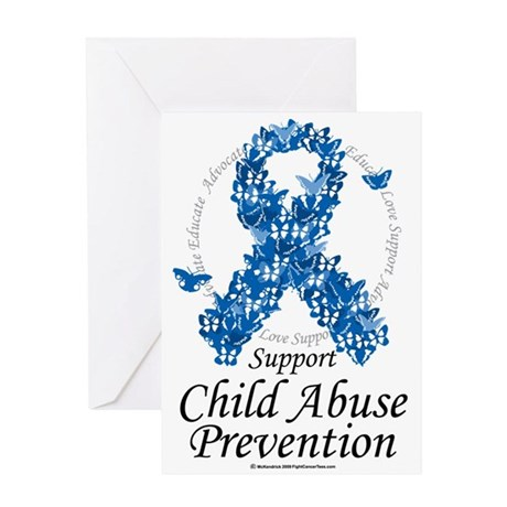 Child-Abuse-Ribbon-of-Butterflies Greeting Card