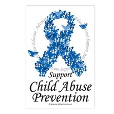 Child-Abuse-Ribbon-of-But Postcards (Package of 8)