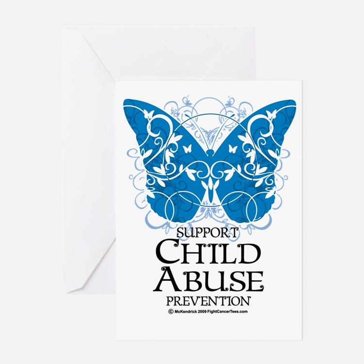 Child-Abuse-Butterfly Greeting Card