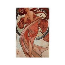 mucha-dance-large Rectangle Magnet