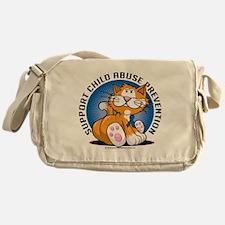 Child-Abuse-Prevention-Cat Messenger Bag