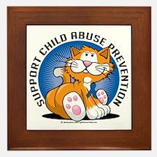 Child-Abuse-Prevention-Cat Framed Tile